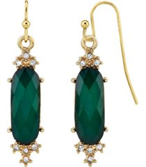 2028 gold-tone crystal faceted drop earrings