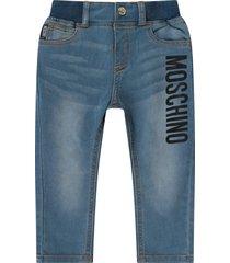 moschino denim babykids jeans with black logo
