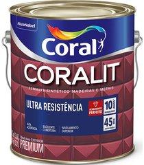 tinta coral esmalte coralit, alto brilho, tabaco, galão 3,6 litros