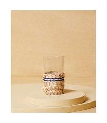 vaso florencia: vaso de vidro com vime cor: natural - tamanho: único