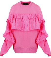 red valentino over rouches sweatshirt