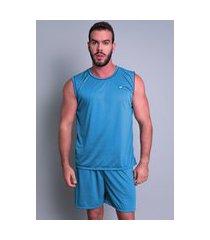 pijama mvb modas  curto adulto camiseta azul claro