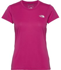 w reaxion amp crew t-shirts & tops short-sleeved rosa the north face