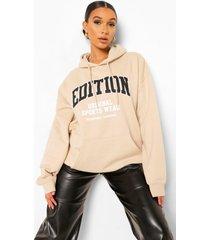 edition hoodie met tekst, sand