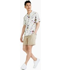 inc international concepts men's pride floral short-sleeve camp shirt, created for macy's