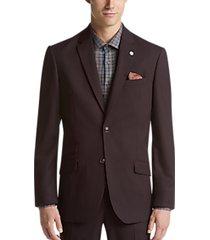 ben sherman burgundy extreme slim fit suit