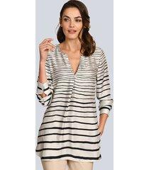 blouse alba moda crème::zwart