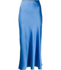 blanca vita mid-calf straight skirt - blue