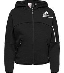 z.n.e. loose full-zip hoodie hoodie trui zwart adidas performance