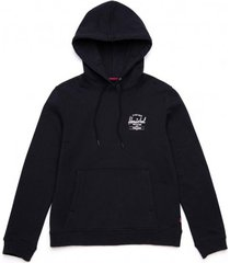 herschel trui supply co. women pullover hoodie classic logo black white-l