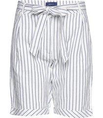 o2. striped linen shorts shorts paper bag shorts vit gant