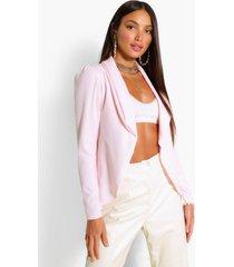 tall puff shoulder blazer, pink