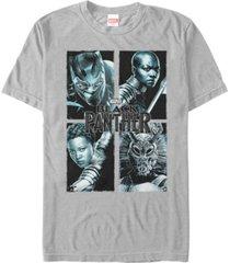 marvel men's black panther portrait group shot short sleeve t-shirt