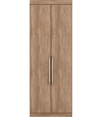 armário 2 portas modena nogal demóbile