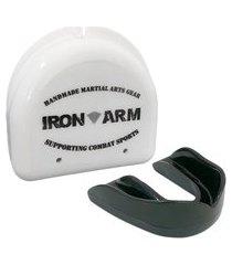 protetor bucal simples iron arm com estojo .