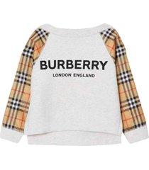 burberry white sweatshirt