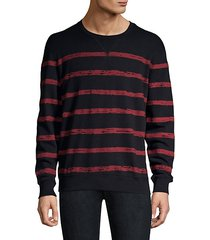 broken stripe cotton sweatshirt