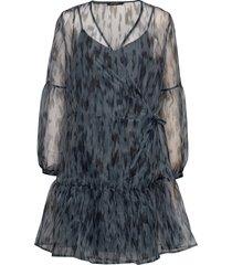 blur hamill dress kort klänning blå bruuns bazaar