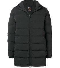 aspesi padded coat - black