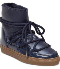 inuikii sneaker gloss shoes boots ankle boots ankle boots flat heel blå inuikii