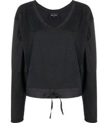 andrea ya'aqov v-neck sweatshirt - black