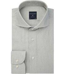 profuomo groen jacquard shirt pprh3a1013/z