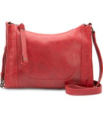 frye melissa leather crossbody bag - red