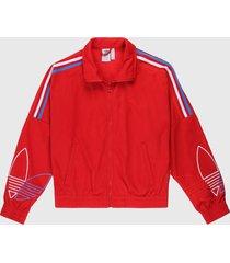 chaqueta rojo-azul-blanco adidas originals trefoil primeblue