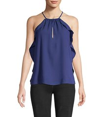 draped halter top