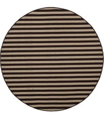 safavieh four seasons ivory and brown 6' x 6' sisal weave round area rug