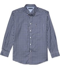 tommy hilfiger adaptive men's mini tartan shirt with magnetic buttons