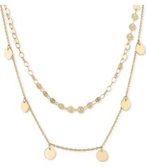 "rachel rachel roy gold-tone disc two-row necklace, 18"" + 2"" extender"