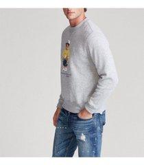 polo ralph lauren men's denim bear fleece sweatshirt