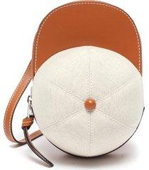 midi cap' canvas leather crossbody bag
