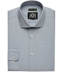 joe joseph abboud repreve® blue check slim fit dress shirt