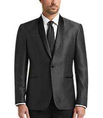 awearness kenneth cole black & gray diamond slim fit dinner jacket