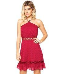 vestido colcci curto comfort rosa - kanui