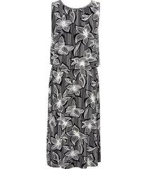 mouwloze jurk met bloemenprint van via appia due multicolour