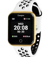 relogio champion smart watch - ch50006b - branco - dafiti