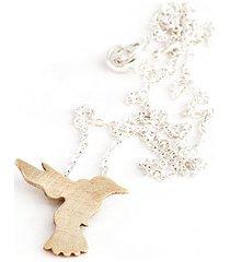 łańcuszek ze złotym kolibrem
