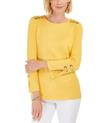 jm collection embellished scoop-neck top, created for macy's