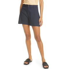 women's vince casual linen blend shorts, size 16 - blue