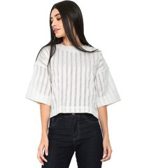 blusa finery london canvey striped top branca
