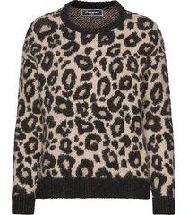 lisa leopard jumper gebreide trui bruin superdry