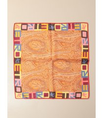 etro neck scarf etro scarf in paisley patterned silk