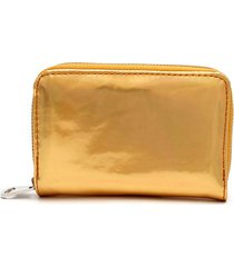 billetera oro color dorado, talla uni