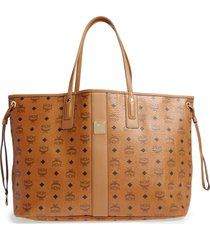 mcm large liz reversible shopper - brown