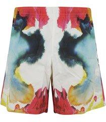 alexander mcqueen printed detail shorts