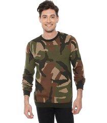 sweater soldier militar verde jack & jones - calce regular