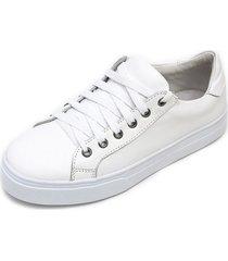 tãªnis sapatãªnis casual em couro jna shoes branco - branco - feminino - dafiti